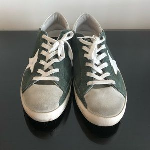 Golden Goose Dark Green Suede Superstars